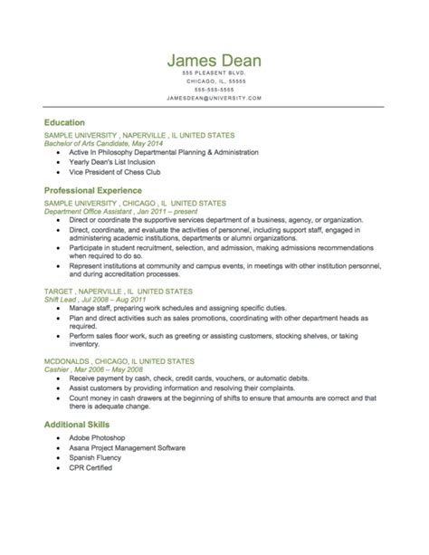 image chronological resume templates