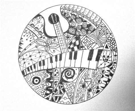 Musical Doodle Zentangle Card Findingthenow Flickr