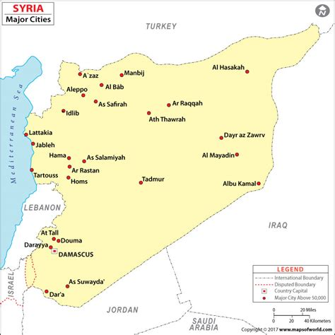 Syria Syari List cities in syria syria cities map