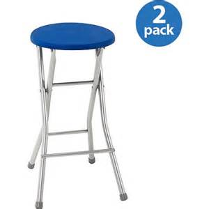 mainstays folding stool 24 quot set of 2 blue walmart