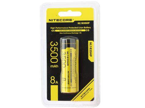 Nitecore 18650 Baterai Li Ion Low Temp High Perform 2900mah Nl1829lthp nitecore nl1835hp high performance 18650 button top battery