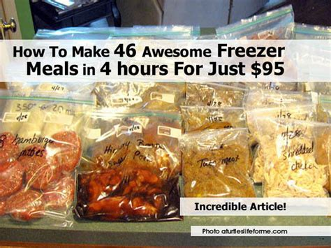 freeze your meals the freezer cookbook busy need books how to make 46 awesome freezer meals in 4 hours for just 95