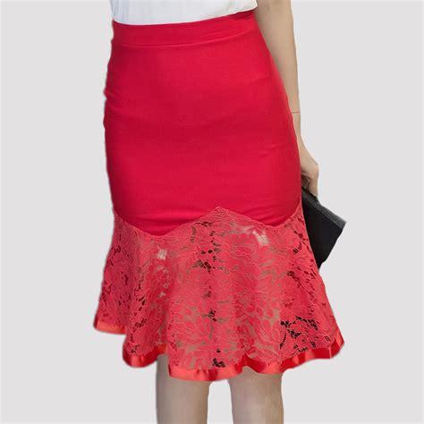 aliexpress buy knee length mermaid skirt high