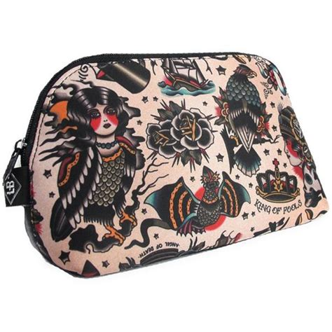 Make Up Bag With A Social Conscience by Liquorbrand Traditional Americana Cosmetic Bag
