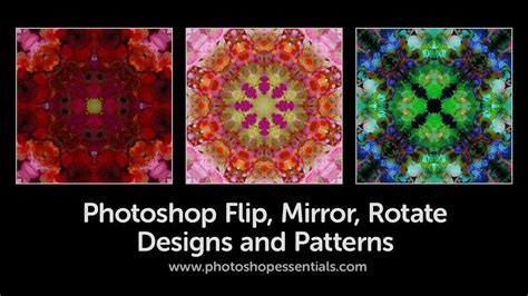 rotate pattern in photoshop flip rotate and mirror designs and patterns in photoshop