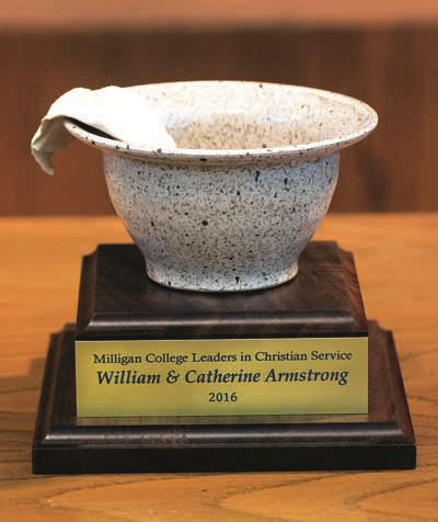 bill & catherine armstrong honored by milligan college