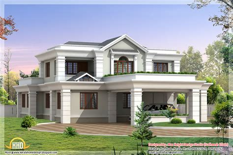 beautiful house plans with photos 2 storey sloping roof home plan kerala home design