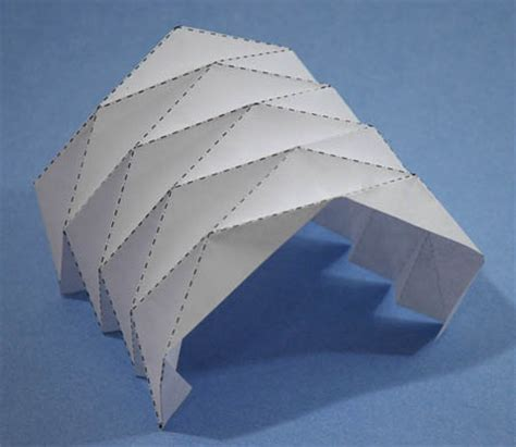 Folded Paper Designs - how to fold a vault out of paper