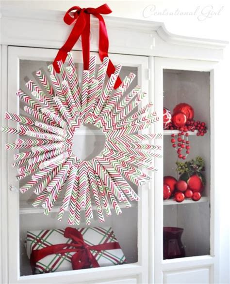Make Wrapping Paper - make a wrapping paper wreath 187 dollar store crafts