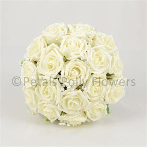 Wedding Bouquet Artificial Flowers by Handmade Ivory Artificial Wedding Bridesmaids Bouquet