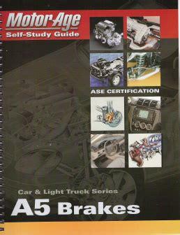 Ase A5 Automotive Brakes Motorage Test Prep Manual