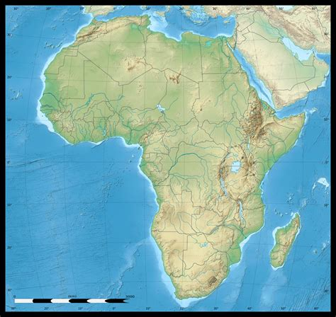 continent of africa map continents of africa map
