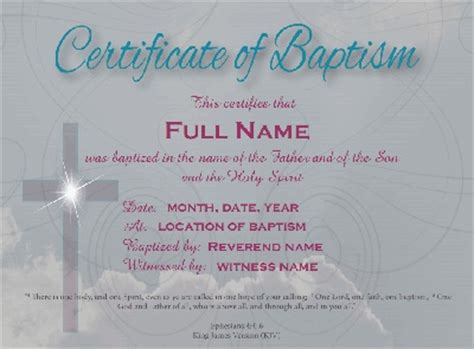 17 Best Images About Baptism On Pinterest A Tree Baptisms And Baby Dedication Free Baptism Certificate Template Word