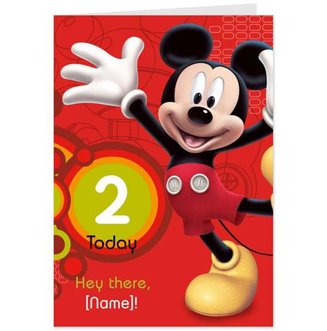 Mickey Mouse Birthday Cards Hallmark Cards Greetings Cards And Gifts