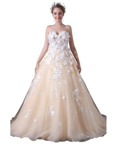 Court Wedding Dress by Gown Sweetheart Court Tulle Wedding Dress With