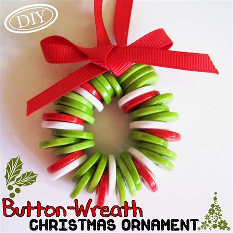 simple craft for christamas celebrationo diy button wreath ornament top easy craft decor design project ideas
