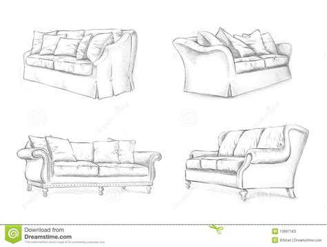 how to draw a 3d sofa sofa sketching stock illustration image of chair