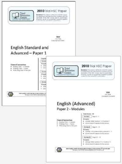 2010 Trial A Hsc English Advanced Papers 1 Amp 2 Total