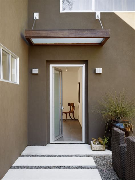 Exterior Door Canopy Portico Simple For Back Or Side Door Exterior Home Designs Door Canopy
