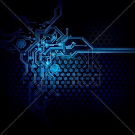 circuit design on digital background vector image