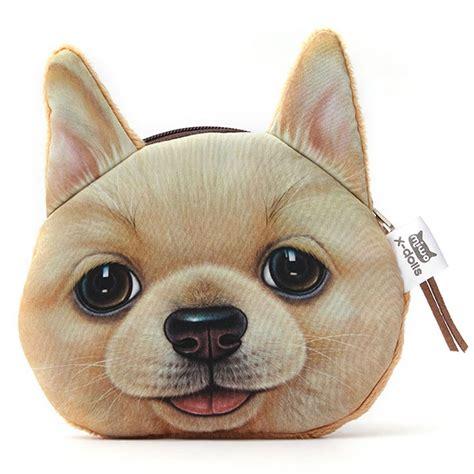 3d dog face print coin bag women wallet pocket purse zip