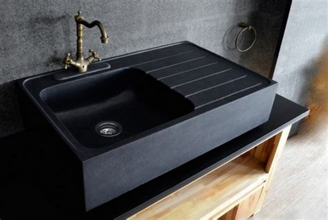 Black Granite Kitchen Sink by Get Stoned 11 Kitchen Sinks Made From Rock