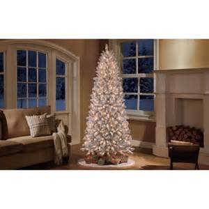 holiday time pre lit 9 slim winter frost pine artificial
