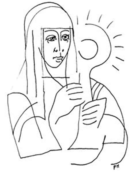 santa caterina da siena disegno da colorare disegni