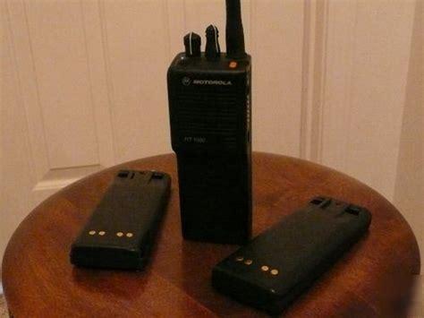 Antena Ht Motorola Vhf 136 174 Mhz motorola ht1000 vhf 136 174 mhz ht 1000 3 batteries