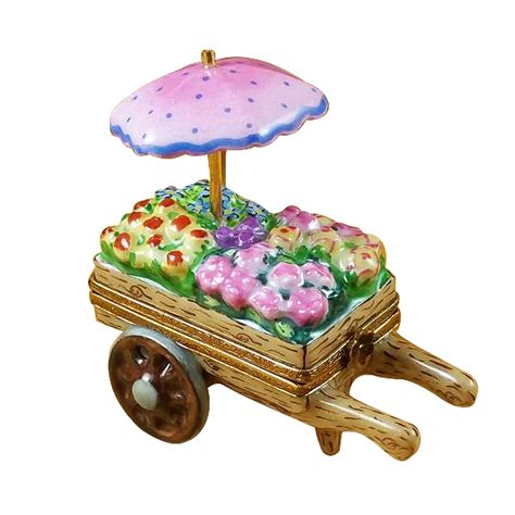 garden flower cart flower cart limoges boxes and figurines limoges