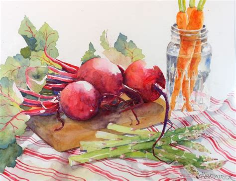 libro watercolour fruit vegetable watercolor vegetables third place cecile kirkpatrick for beets carrots and asparagus