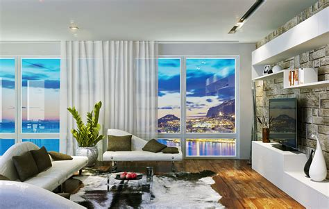 sea view living room apartment living with sea view interior design ideas