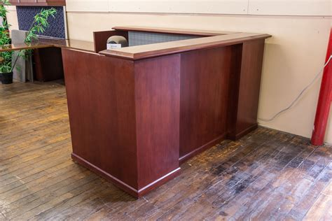 Traditional Reception Desk Traditional Cherry Reception Desk Peartree Office Furniture