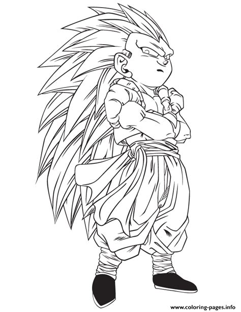 dragon ball z fusion coloring pages dragon ball z gotrunks coloring page coloring pages printable