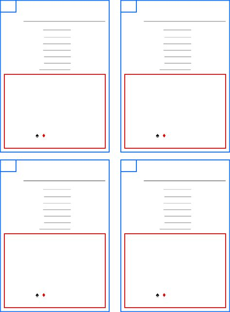 pinochle tally cards template sle pinochle score sheet free