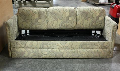rv furniture used rv swirl pattern cloth pull out sleeper