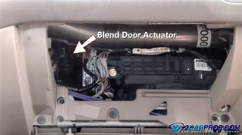 replace  blend door actuator    minutes