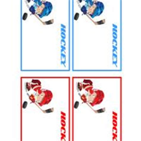 hockey player cards template hockey players name tags