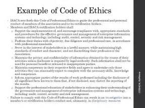 personal code of ethics template doc 7681024 code of conduct exle code of conduct