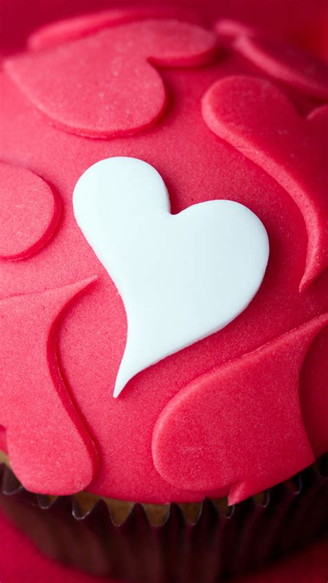 pink cupcake heart  htc   wallpapers