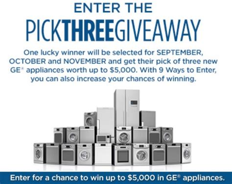 Appliance Giveaway - american home shield you pick three fall appliance giveaway