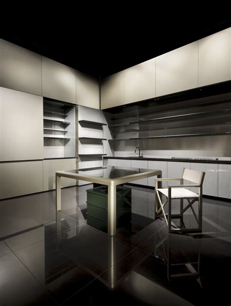 armani home interiors disappearing sleek and polish kitchen design calyx from
