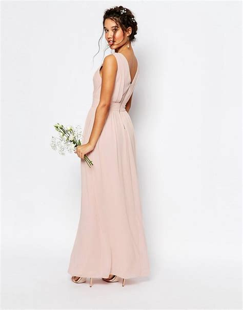 are maxi dresses ok for weddings lyst tfnc london wedding wrap embellished maxi dress in
