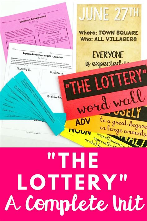 thesis for the lottery response essay to the lottery