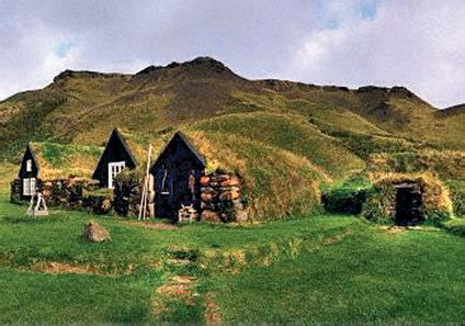 viking homes were built into the there were