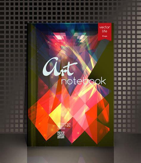 notebook cover design vector free download art notebook cover template vector 04 vector cover free
