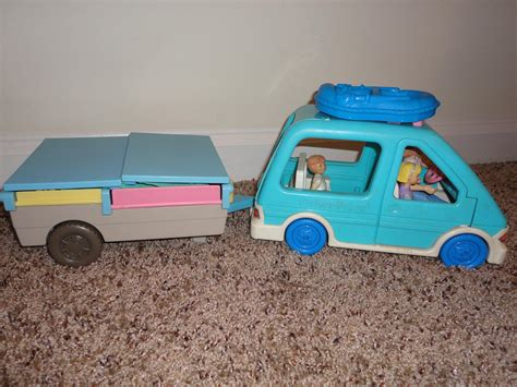 pop up doll house fisher price loving family doll house pop up camper with car ebay