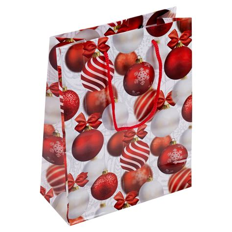 sets of christmas gift bags baubles balloons party