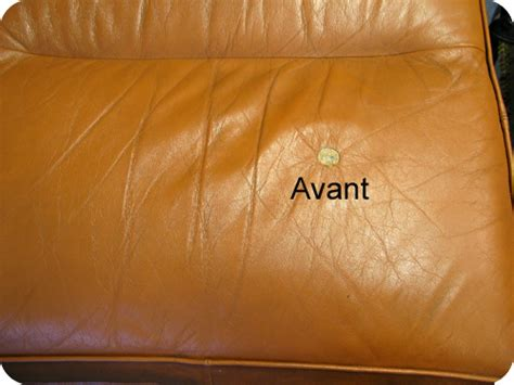 reparation fauteuil cuir dechire comment reparer canape cuir dechire