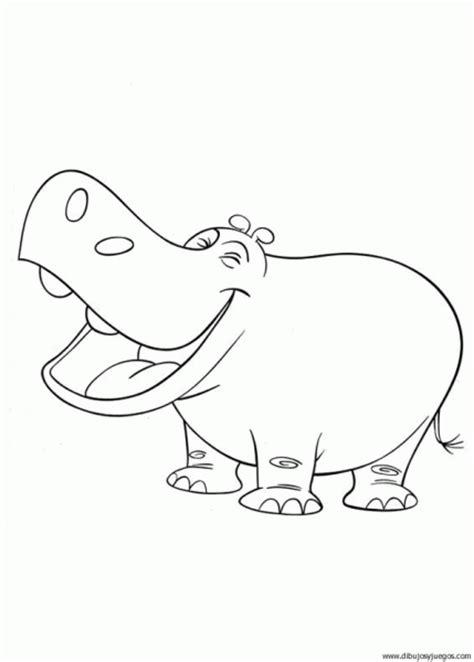 imagenes para colorear hipopotamo dibujo de hipopotamo 008 dibujos y juegos para pintar y